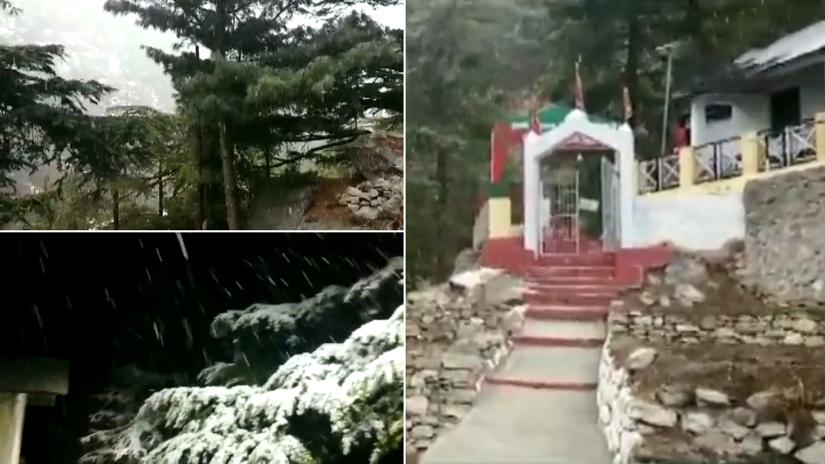 Himachal Pradesh, Uttarakhand Receive Fresh Bout of Snowfall (Watch Pictures & Video)