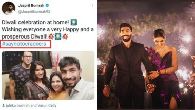 Twitterati Dig Out Jasprit Bumrah's Old 'Say No To Crackers' Tweet After Crackers Used at Indian Cricketer's Wedding Reception