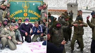 Holi 2021: 'Himveers' of ITBP Celebrate Holi at Galwan in Eastern Ladakh, See Pictures