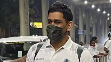 MS Dhoni Arrives in Chennai for IPL 2021, CSK Shares Photo; Fans Trend #DhoniDefinitelyYes on Twitter