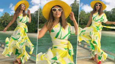 Hina Khan Looks Like a Summer Breeze, Making Beautiful Memories in Her Flip-Flops (View Pics)