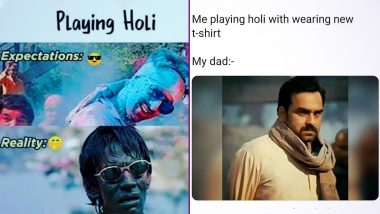 Holi 2021 Honest Memes and Funny Jokes! From 'Sirf Teeka Laguanga' to 'Expectations vs Reality,' These Hilarious Holi Posts Perfectly Sum Up the Spirit of Festival of Colours