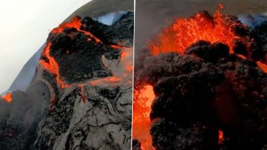 Iceland's Fagradalsfjall Volcano Erupts After 800 Years! Viral Drone Footage Incredibly Resembles Mordor From 'The Lord of the Rings'