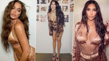Kim, Kourtney and Khloe's Stunning Appearances on Silky SKIMS Bikini Top & Matching Shorts for Kim's Pajama Campaign Is Raising the Temperature, See Hot Pics of the Kardashian Sisters!