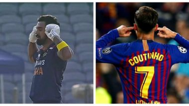 KL Rahul Replicates Philippe Coutinho Celebration After Scoring A Century During IND vs ENG 2nd ODI, Did Indian Wicketkeeper Take a Subtle Dig at Critics?