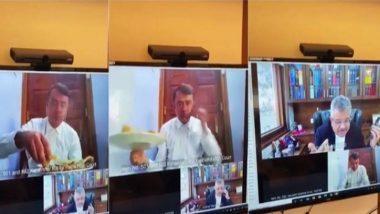 Video of Patna Lawyer Eating Lunch During Virtual Court Session Goes Viral! Watch
