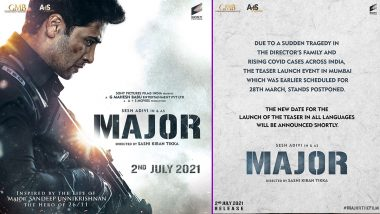 Major: Adivi Sesh-Starrer Teaser Launch Postponed Due to Rise of COVID-19 Cases and Sudden Tragedy in Director's Family (View Post)