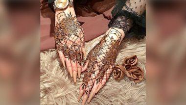 Mahashivratri 2021 Mehndi Designs for Newlyweds: Latest Stunning Henna Ideas, Traditional Mehendi Designs & Stylish Arabic Patterns for Full Hands and Back for Shivratri (See Pics)