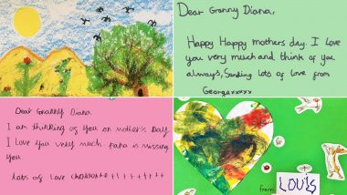 Happy Mother's Day Greeting Cards: 'Papa is Missing You'! George, Charlotte and Louis Write Heart-Touching Mother's Day Messages For Granny Diana