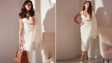 Nora Fatehi Adds a Dash of Hotness To Her Otherwise Formal Look (View Pics)