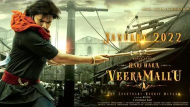 Hari Hara Veera Mallu First Look Out! Powerstar Pawan Kalyan's Period Drama To Release On Sankranti 2022 (Watch Video)
