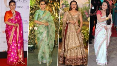 Rani Mukerji Birthday Special: From Traditional Drapes to Modern Cuts, She Believes in Acing Them All (View Pics)