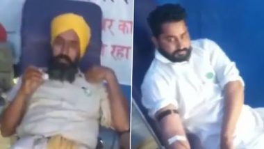 Shaheed Diwas 2021: Protesting Farmers Mark the Day by Donating Blood at Tikri Border (Watch Video)
