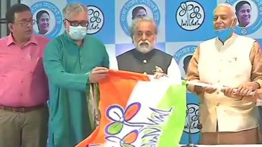 Yashwant Sinha Joins TMC in Kolkata Ahead of West Bengal Assembly Elections 2021