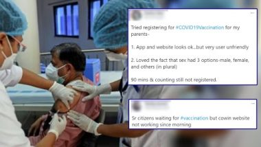 CoWIN Portal Not Working, Users Complain of 'Appointment Unavailable' Messages As They Experience Delays in Registration Process While Enrolling for COVID-19 Vaccination; Check Tweets