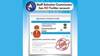Staff Selection Commission Has a Twitter Account @ssc_nic_in? PIB Fact Check Reveals Truth Behind Fake Twitter Handle of SSC