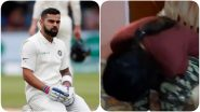 Virat Kohli's Fan Breaks Down As Indian Cricket Captain Gets Dismissed For a Duck During IND vs ENG 4th Test 2021 Day 2 (Watch Video)