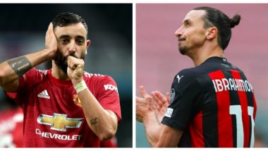 Zlatan Ibrahimovic vs Bruno Fernandes: Ibra Will Be Playing Against His Former Club Manchester United In Europa League 2020-21 Match, AC Milan Stefano Pioli Confirms