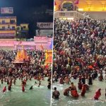 Kumbh 2021: Devotees Take Holy Dip in Ganga on Huge Numbers at Hari Ki Pauri in Haridwar (See Pictures)