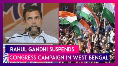 Rahul Gandhi Suspends Congress Campaign In West Bengal, Three Candidates Die