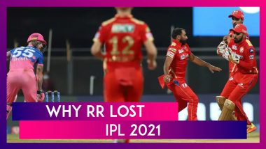 Rajasthan vs Punjab IPL 2021: 3 Reasons Why Rajasthan Lost