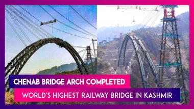 Chenab Bridge Arch Completed: All About The World's Highest Railway Bridge In Kashmir