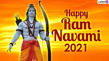 Happy Ram Navami 2021 Lord Ram Images & Wallpapers: Wishes, Greetings, WhatsApp Stickers, Facebook Status and Telegram Images to Share with Your Loved Ones to Mark the End of Chaitra Navratri