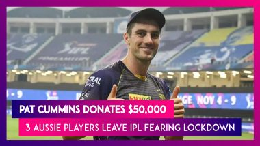 IPL 2021: Pat Cummins Donates $50,000; 3 Other Aussie Players Withdraw Fearing Lockdown