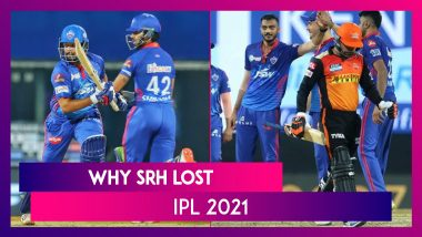 Hyderabad vs Delhi IPL 2021: 3 Reasons Why Hyderabad Lost