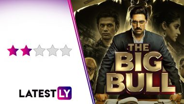 The Big Bull Movie Review: Abhishek Bachchan Snarls and Gnarls His Way Through This Weak Retelling of the Harshad Mehta Scam Story (LatestLY Exclusive)