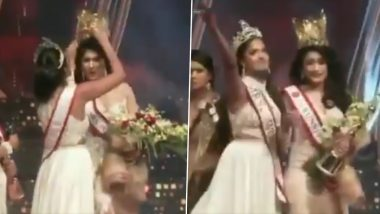 Mrs World Snatches Mrs Sri Lanka, Pushpika De Silva's New Crown From Her on Stage After a Brawl! Video Goes Viral