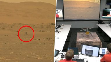 NASA's Ingenuity Helicopter Flies Successfully on Mars! Videos of Scientists Elated Witnessing the First Controlled Flight on Another Planet Go Viral