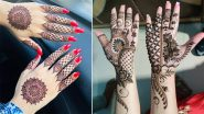 Chaitra Navratri 2021 Mehndi Designs: Latest Arabic, Rajasthani & Trail Henna Patterns & Easy Mehendi Tutorial Videos to Celebrate Navaratri (Watch Videos)