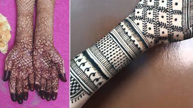 Gudi Padwa 2021 Mehendi Designs: Latest Arabic, Indian, Jaipuri, Floral, Criss Cross & Trail Mehndi Patterns for Front & Back Hand to Celebrate Marathi New Year