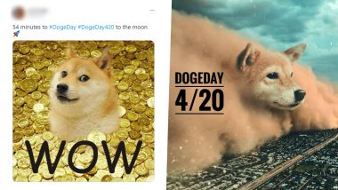 Why Is #DogeDay Trending on April 20 aka 4:20? Elon Musk Fans Want to Send Doge to the Moon With Funny Memes and Jokes on 'Dogecoin' Cryptocurrency