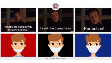 Mumbai Police Uses the Famous X-Men 'Perfection' Meme Template Urging Citizens to Wear Masks Properly (See Pic)