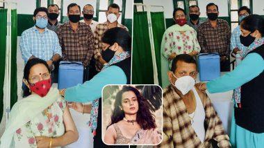 Kangana Ranaut Shares Pics of Parents Getting COVID-19 Vaccine in Himachal Pradesh, Says 'Waiting for My Turn'