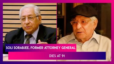 Soli Sorabjee, Former Attorney General, Dies At 91 After Contracting COVID-19