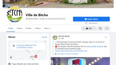 Ville De Bitche, a French Town's Facebook Page Removed by the Social Media Platform After Confusing Its Name With an English Slang