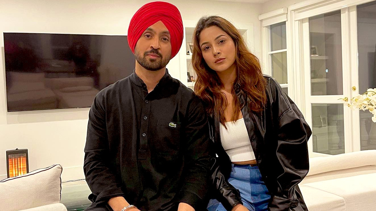 Honsla Rakh: It's a Wrap for Diljit Dosanjh, Shehnaaz Gill's Punjabi Movie (See Pics) | LatestLY