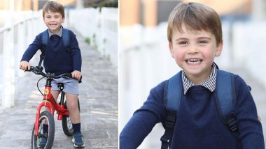 Prince Louis Turns 3! The Royal Family Shares Adorable Pic of the Birthday Boy & He Is All Smiles in His Bicycle