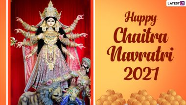 Chaitra Navratri 2021 Wishes and HD Images: WhatsApp Stickers, Facebook Greetings, Telegram Messages and Signal Photos of Goddess Durga to Celebrate the Nine Day Navaratri Festival