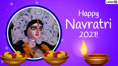 Happy Chaitra Navratri 2021 Wishes, Greetings & HD Images: Send WhatsApp Stickers, Telegram Messages, Signal Quotes, Maa Durga Mantras & Photos to Celebrate Navaratri