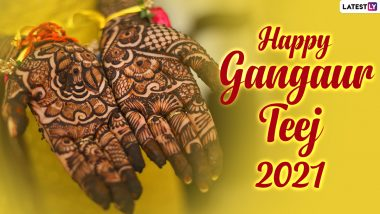 Gangaur Teej 2021 Mehendi Designs: Easy Arabic, Indian, Rajasthani & Criss Cross Mehndi Patterns For Front & Back Hand That You Can Try at Home (Watch Henna Video Tutorials)