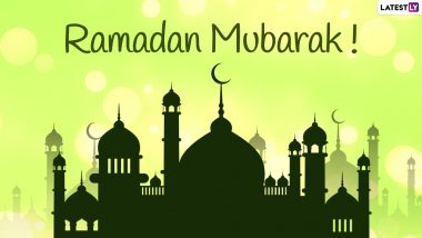 Ramadan Mubarak Greetings & Quotes: Send First Roza Wishes, Telegram Messages, Signal HD Images, WhatsApp Stickers & GIFs to Send on First Fasting Day of Ramadan Kareem