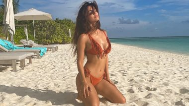 Disha Patani Flaunts Hourglass Perfection As She Poses in a Burnt Orange Fringed Bikini! (View Pic)