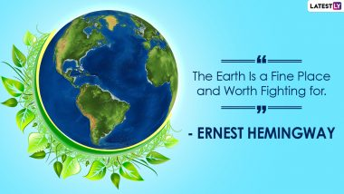 Earth Day 2021 Quotes and HD Images: 'Save Earth' Slogans, Inspirational Sayings and WhatsApp Sticker Photos to Send on International Mother Earth Day