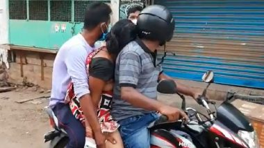 Andhra Pradesh Shocker: Unable To Find Ambulance, Family Carries Dead Body on Motorcycle for Cremation