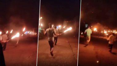 Madhya Pradesh: Locals in Ganeshpura Village Chant 'Bhag Corona Bhag', Run With Burning Torches to Drive Away Coronavirus (Watch Video)