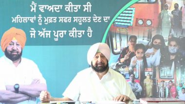 Punjab CM Amarinder Singh Launches Free Travel Facility for Women in Government Buses